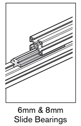 1 AF 6mm and 8mm slide bearings
