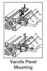 10 AF variofix panel mounting