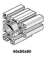 10 Profiles 40x80x80