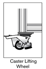 12 AF caster ligting wheel