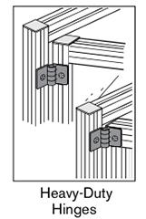 13 AF heavyduty hinges
