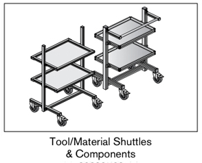 13 AF tool material shuttles