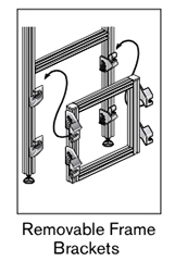 17 AF removable frame brackets