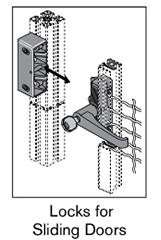 20 AF locks for sliding doors