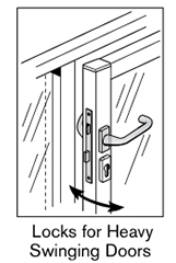21 AF locks for heavy swinging doors