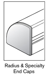 4 AF radius specialty end caps
