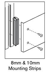 6 AF 8mm mounting strips