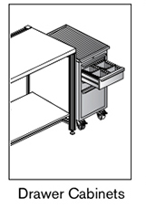 6 AF drawers cabinets