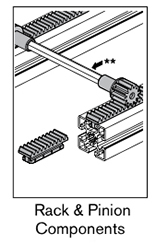 6 AF rack and pinion components