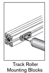 6 AF track roller mounting blocks
