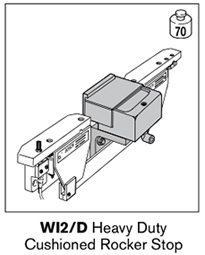 6 wi2-d heavy duty cushioned rocker stop
