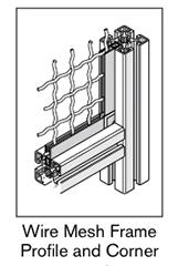 8 AF wire mesh frame profile