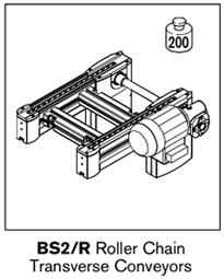 8 tsplus bs2 roller chain transverse conveyors