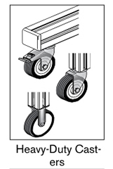 9 AF heavy duty casters