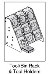 9 AF tool bin rack holders