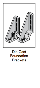 2 profile connectors die cast foundation