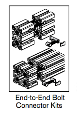 3 180 end to end bolt connector