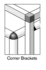 6 pro connectors corner brackets
