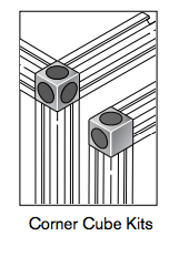 7 pro connectors corner cube kits